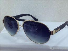 Wholesale new men brand designer sunglasses SZ pilot frame with bamboo legs italian designer big frame for cool men sunglasse with original case