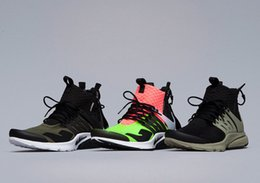 Wholesale Brand Shoes King Autumn Sneakers Famous ACRONYM Air Presto MID Zipper Mid Top Sock Shoes Wholeslae