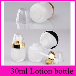 30ml glass cosmetic bottles empty Perfume Face Lotion Cream Milk Makeup Push Out Dispenser Bottle Liquid Dispenser Refillable Home Fragrance