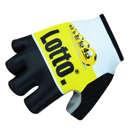 Wholesale The new edition team bicycle clothing accessories LOTTO lottery half gloves Mountain earthquake to reduce friction