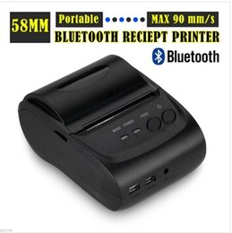 Wholesale Portable mm Bluetooth Thermal Printer