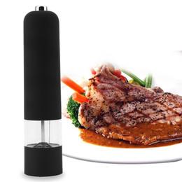 Wholesale BEST Hot Kitchen Tools Electric Salt Spice Pepper Herb Mills Grinder with LED Light pepper mill pepermolen Black