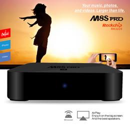 Wholesale M8S PRO MXQ K TV Box Android RK3229 G G Kodi fully loaded Internet TV Box Media Player D Wifi Dual IR Remote control