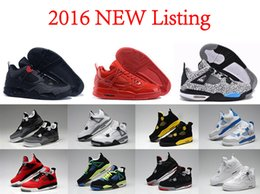 Wholesale 2016 Cheap Air retro IV Cement Fire Red Fear men basketball shoes china Original Quality Authentic online for sale US