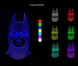 3D Optical Illusion Batman Night Lamps 10 Colorful LEDs Ultra-thin Acrylic Light Panel Battery or DC 5V Factory Wholesale