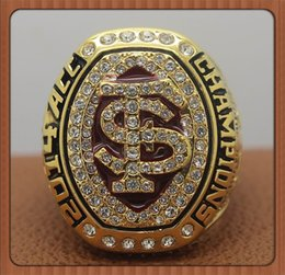 Wholesale For Florida State FSU Seminoles ACC National Championship Ring Gold Plated World Series Alloy Rings