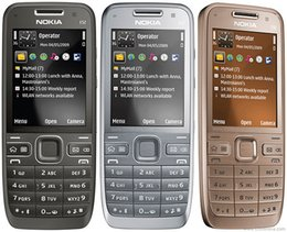 Wholesale Refurbished nokia E52 Original cell phone E52 WIFI GPS JAVA G Unlocked Mobile Phone handset russian keyboard