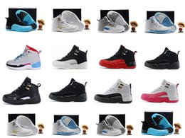 Retros 12s Basketball shoes for kids Flu game children's sneaker gamma blue boy and girl Retro 11 SIZE 28-35