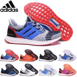 Wholesale 2016 Adidas Originals Ultra Boost Primeknit Deep Sea Blue Orange Grey Men Running Shoes Classic Ultra Boosts ultraboost Casual Sneaker