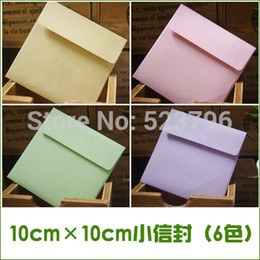 Wholesale piece cm square small paper envelopes small cards invitations membership card holding colors