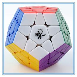 Dayan juguete en Línea-Al por mayor-DaYan Megaminx cubo mágico dodecaedro velocidad Puzzles juguetes del cubo de aprendizaje de educación juguete cubo mágico juego personalizado