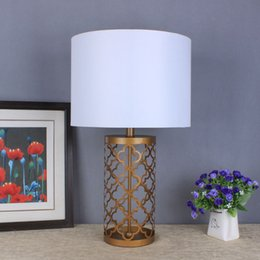 Wholesale European style table lamp for living room Lighting Collection Linus Brass Column Gold inch Table Lamp