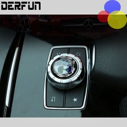 Car styling AMG emblem Multimedia button decorative 39mm 52mm Diameter labeling interior 3D sticker for Mercedes Benz GLK GLA,E