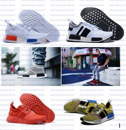 Wholesale Best Men NMD Runner Primeknit High Quality Running Shoes with Box NMD Boost Basketball Shoes Breathable Sneaker Outdoor Shoes for Women