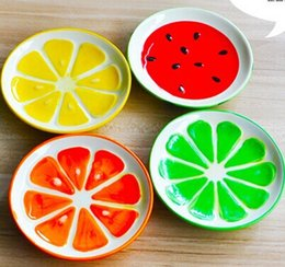 Ceramic small plate, Lovely fruit dishes, creative dish, 4 piece   set, tableware, talheres, 9.8*1.9 cm