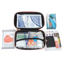 Wholesale ePacket Piece First Aid Kit Idea for Home Travel Outdoor Emergency and Survival Including Medical items