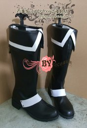 Wholesale D Gray man Allen Walker black white Cosplay Boots shoes shoe boot NC343 anime Halloween Christmas