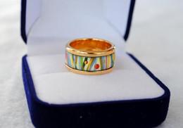 Flower of Love series rings 18K gold-plated enamel rings Top Advanced production jewelry ring for women designer rings for gift