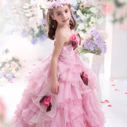 2016 Spring Sling Pink Girl Robe de mariée en mousseline demoiselle Robe de marquage sling dress princess deals à partir de robe princesse fronde fournisseurs