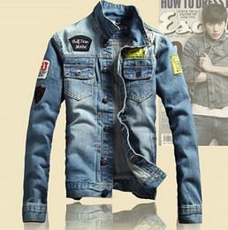 Printemps Vestes pour hommes Brand New Slim Fit Vintage Denim Patch Designs Jeans Veste Homme Hommes Plus Size Jaqueta Masculina MJK13 à partir de mince vestes en denim ajustement fabricateur