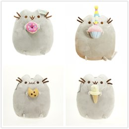 """4 style Pusheen Cookie & Icecream & Doughnut 6"""" 15CM Plush Doll Stuffed Animals Toys For Child Gifts"""