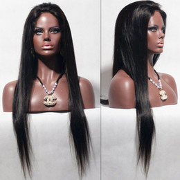 Silky Straight Full Lace Wig Brazilian Human Hair Straight Lace Front Wig Glueless Full Lace Wig For Black Women