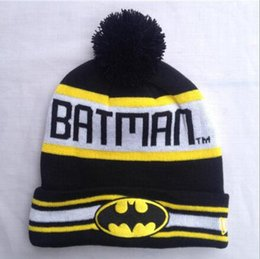 Wholesale Men Head Hat Hip Hop Unisex Batman Superman Street Skateboarding Beanie Mans Women Girls Autumn Winter Knit Cotton Wool Hats Snapback Caps