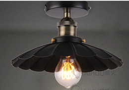 Wholesale Industrial Flushmount Umbrella Ceiling Lamp Restoration Chandelier th C Factory Light Surface Mounted