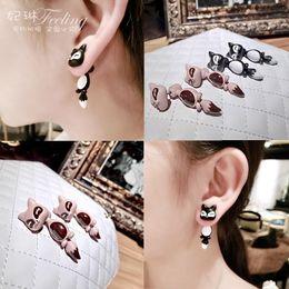 Forme el clavo del oído del Fox del oscilación Las piezas originales viejas alrededor del pendiente sienten el 100% El Yiwu Zhejiang Embalaje independiente Aleación de la joyería personalidad desde piezas de joyería de moda fabricantes