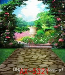Wholesale Beautiful Scenery Wedding Photography Studio Gallery Decor Vinyl Backdrops Printed Cloth X7ft Backgrounds AX
