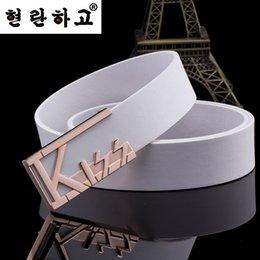 Version coréenne de la ceinture des femmes lisse boucle de loisirs hommes de la ceinture européenne et américains fabricants de ceintures d'affaires en gros à partir de femmes boucles de ceinture gros fournisseurs