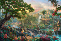 Wholesale The Jungle Book HD Art Print Original Oil Painting on Canvas high quality Home Wall Decor Multi size Framed
