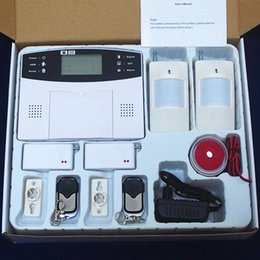 Wholesale Home Security Wireless GSM Alarm Systems with LCD Keyboard Sensor Alarm Support English Russian Spanish French Voice