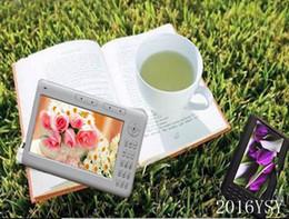 Promotion livres vidéo Gros-Livraison gratuite ebook 7inch lecteur e-book, HD 720p + 8 Go de mémoire intégré dans Multi-fonction MP4 e livre MP3 joueur de jeu vidéo, enregistrement FM +
