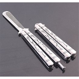 Wholesale Beauty Metal Practice Balisong Butterfly Knife Dragon Trainer Outdoor Sport Tool