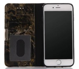 Wholesale For iphone7 Granite Marble Pattern Soft leather Phone Case for iphone plus with card slot holder stand case