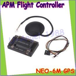 2017 gps quadcopter fpv Gros-ArduPilot Mega GPS APM2.6 Flight Controller Board uBlox 6M avec boussole APM 2.6 pour FPV Multirotor Quadcopter Dropship gps quadcopter fpv promotion