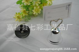 Wholesale Stainless steel seat Card holder Heart bell Wedding Favors wedding supplies gift box cheap Practical unique
