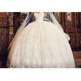 Vestido De Noiva White Ivory Lace Wedding Dresses 2016 Ball Gown Designer New 2016 Spring Pearls Embroidery For Church Wedding Bridal Gown