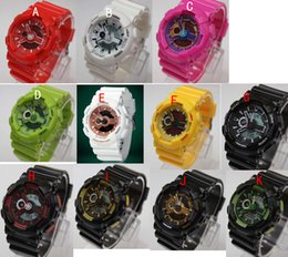 Wholesale new arrivel fashion colorful silicone sports baby g watch Double movement LED watch can choose color
