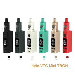 Wholesale Joyetech Evic VTC mini V2 kit temperature control Joyetech evic vt mini w with Tron tank starter kit VS joyetech Evic VT W