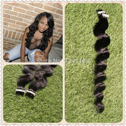 Big Promotion Tape In Hair Extensions Remy 40 Pieces Brazilian Body wave Hair Double Drawn PU Skin Weft Hair For Women Hair