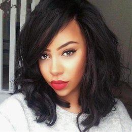 Glueless Bob Full Lace Human Hair Wigs For Black Women Brazilian Hair Wavy Lace Front Human Hair Wigs Bob Short Wig