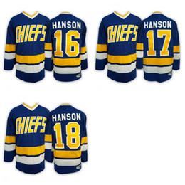 Wholesale 2016 Mix Order Charlestown CHIEFS Men s Jack HANSON Jerseys Steve HAN ICE Hockey Jersey Embroidery Cheap Throwback Jeff HANSON CCM