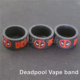 Black Vape band Deadpool for RDA Mod Subtank 18mm Diameter Silicone Vape Ring 200pcs DHL Free Shipping