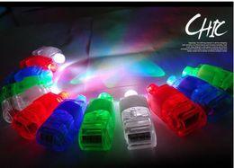 2016 laser conduit doigts LED laser Finger Lumières Anneau Glowing Halloween flash Dazzle Couleur Llamp lumineux Lumière pour Party Jouets Concert fans dédiés DHL Free Ship laser conduit doigts promotion