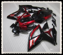 Wholesale New gift Full motorcycle Fairings Kit For suzuki GSXR K6 GSXR600 GSXR750 GSX R600 R750 bodywork cool buy black red