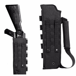Wholesale tactics gun bag Hunting Shotgun Scabbard Molle With Shell Pouch For Short Barrel AK series dedicated