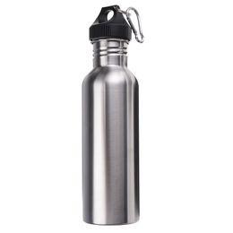 2017 bouteilles d'eau mousqueton Date 750ML Acier inoxydable Large Mouth Bouteille d'eau Avec Carry Mousqueton Outdoor Sporting Bouteille d'eau Coupe pour le cyclisme abordable bouteilles d'eau mousqueton