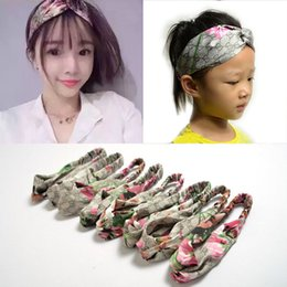 Wholesale Hair Accessories Headbands for Women Baby Head band Girl Hairbands GG Pattern Silk Satin fabric Hair Band Elastic Cross Turban